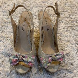 Like New! Rampage Floral Heels!